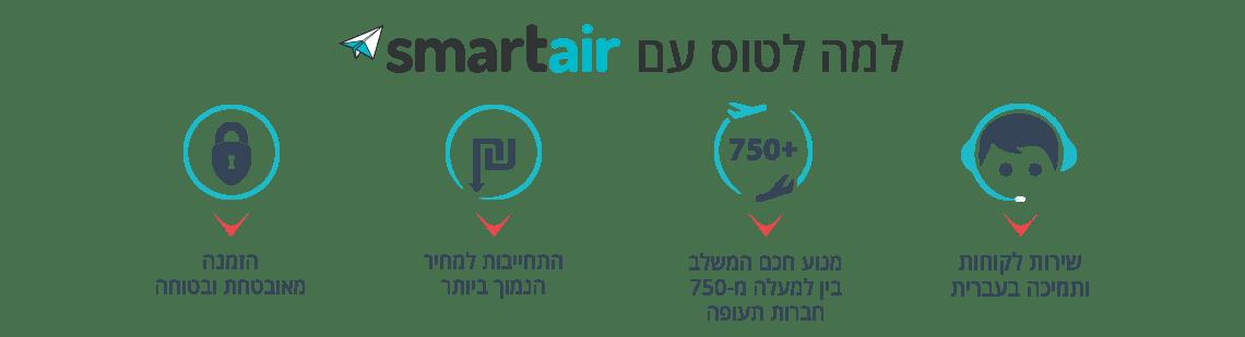 למה לטוס עם Smartair